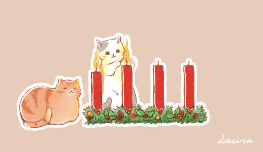 アドベントキャンドル2週目、キャンディショップの猫たち_d0025294_19173641.jpg