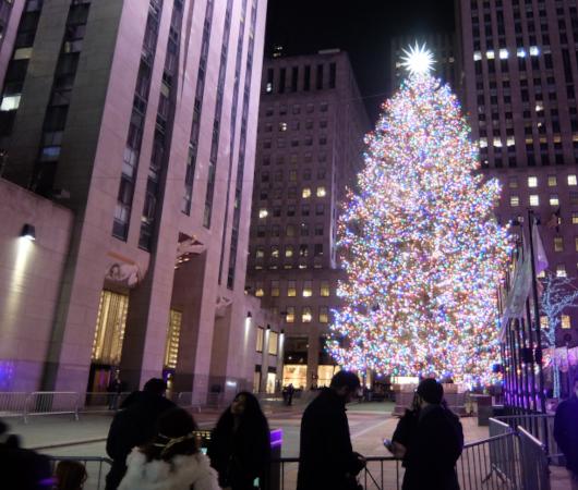 コロナ禍のNY、ロックフェラーセンターのクリスマスツリー 2020_b0007805_04081723.jpg