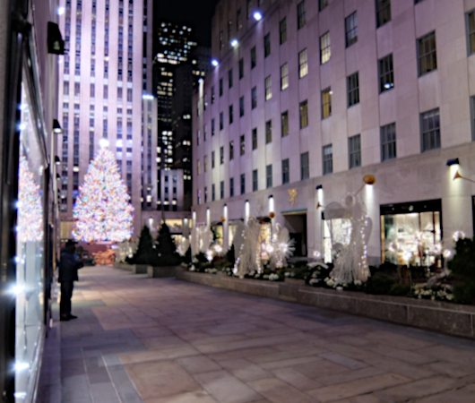 コロナ禍のNY、ロックフェラーセンターのクリスマスツリー 2020_b0007805_04100811.jpg