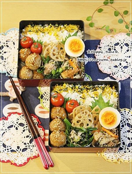 肉団子の甘酢餡弁当とつぶやき♪_f0348032_16030788.jpg