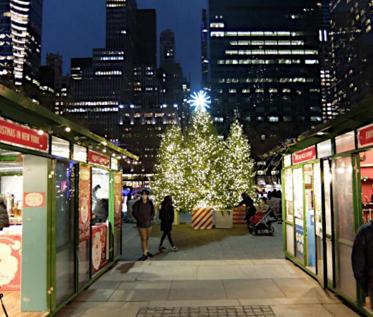 コロナ対策で小さくなったブライアント・パークのクリスマス・ツリー2020_b0007805_06310182.jpg