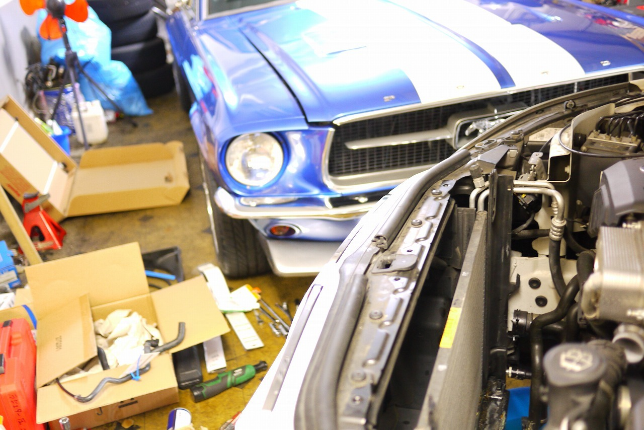 BMW E60 E61 ラジエター交換と エア抜き方法 電気式ウォーターポンプ_d0171835_17263340.jpg