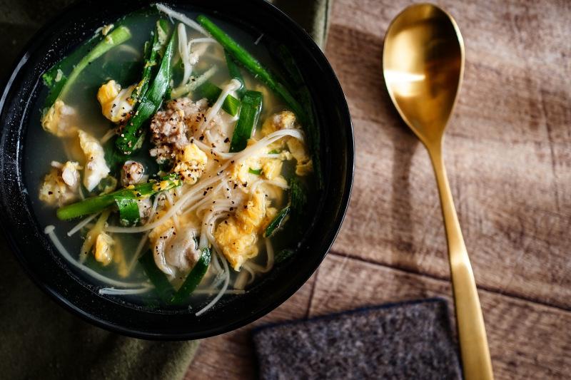 【簡単おかずスープ❗️】豆腐と豚肉とニラのスープ_d0257958_11491125.jpeg