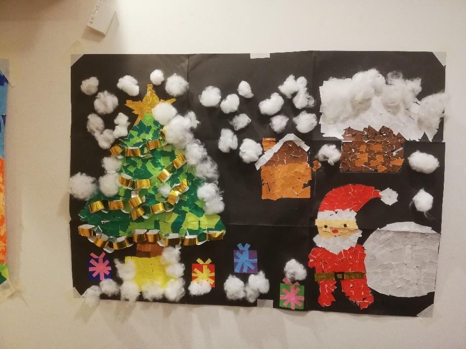 クリスマス貼り絵_f0376200_17421404.jpg