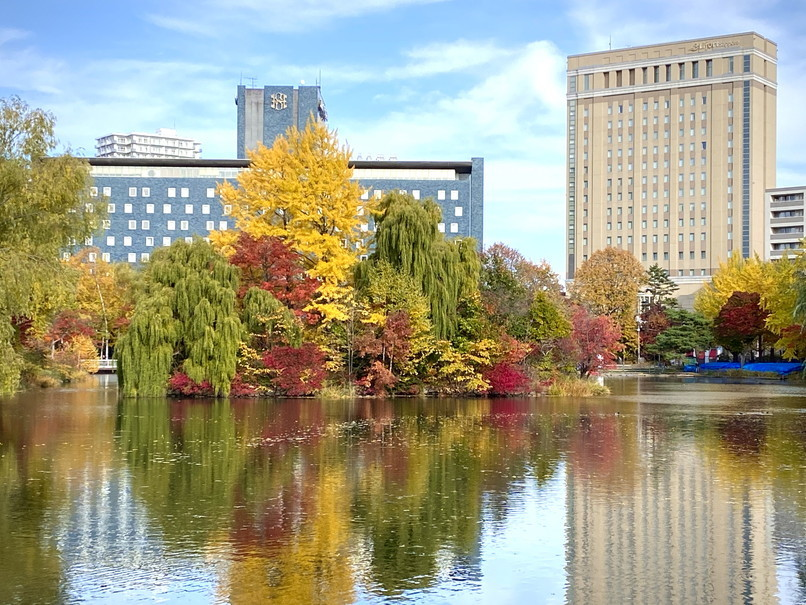 """2020年10月 『錦秋の札幌:八剣山、中島公園、北海道大学』October 2020 \""""Autumn Color in Sapporo\""""_c0219616_17575935.jpg"""