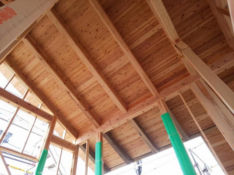 ■屋根組・防水シート完了■_e0188083_06555044.jpg