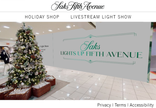 Saks Fifth AvenueとMastercardによるバーチャル・ホリデー・ショップ、Saks Holiday Shopオープン中_b0007805_03233258.jpg