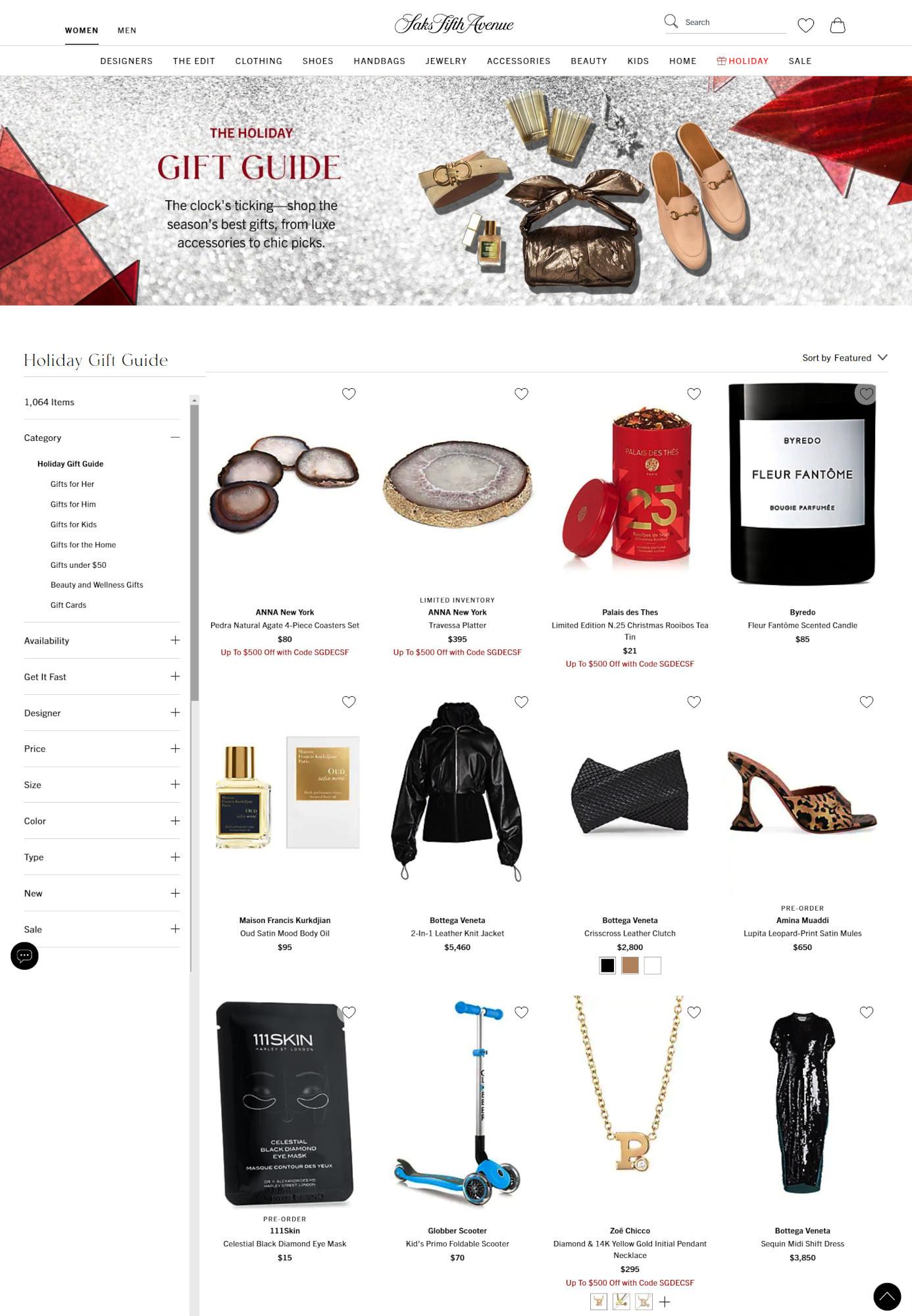 Saks Fifth AvenueとMastercardによるバーチャル・ホリデー・ショップ、Saks Holiday Shopオープン中_b0007805_03241490.jpg