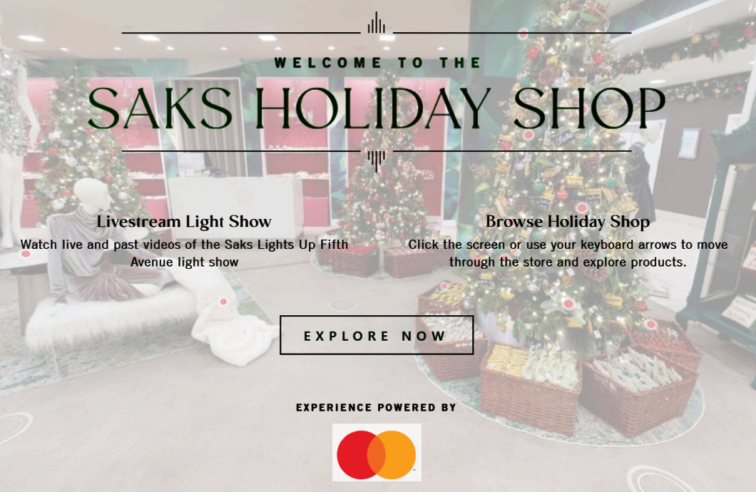 Saks Fifth AvenueとMastercardによるバーチャル・ホリデー・ショップ、Saks Holiday Shopオープン中_b0007805_03250624.jpg