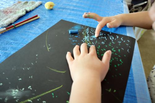 やと子ども美術教室 ~ 宇宙を描く ~_e0222340_13542948.jpg