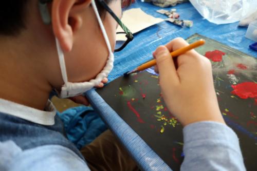 やと子ども美術教室 ~ 宇宙を描く ~_e0222340_13544899.jpg