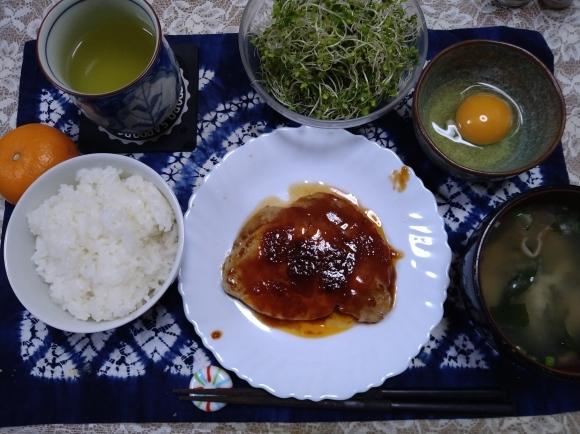 12/14夜勤前飯 ポークチョップ定食@自宅_b0042308_19035584.jpg