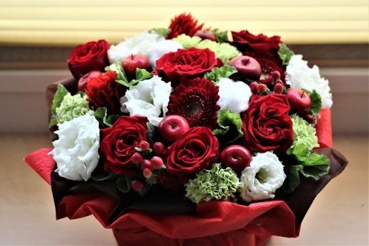 *クリスマスのお花*と手作りマスク_d0114414_11460876.jpg