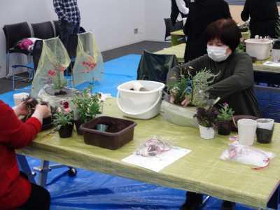 園芸講習会「クリスマスの寄せ植えづくり」開催の様子R2.12.4_d0338682_10295024.jpg