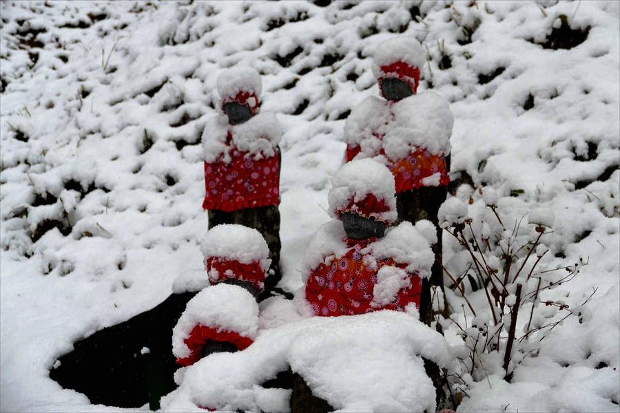 福島市小田「陽 林 寺」の雪の日のお地蔵様_d0106628_21422588.jpg
