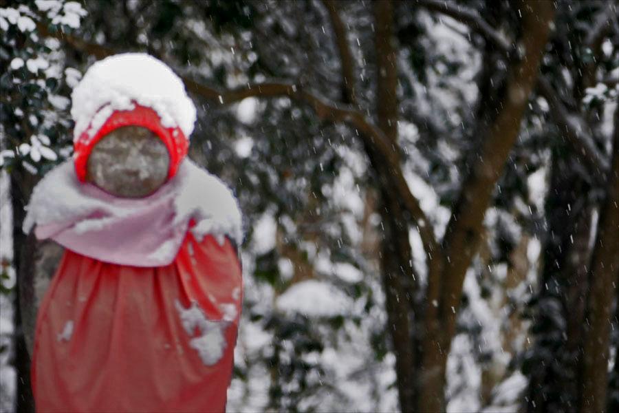 福島市小田「陽 林 寺」の雪の日のお地蔵様_d0106628_21425151.jpg