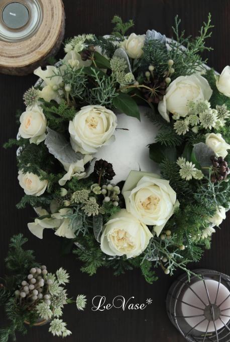 12月 Living flower 『Winter wreath』_e0158653_20333973.jpg