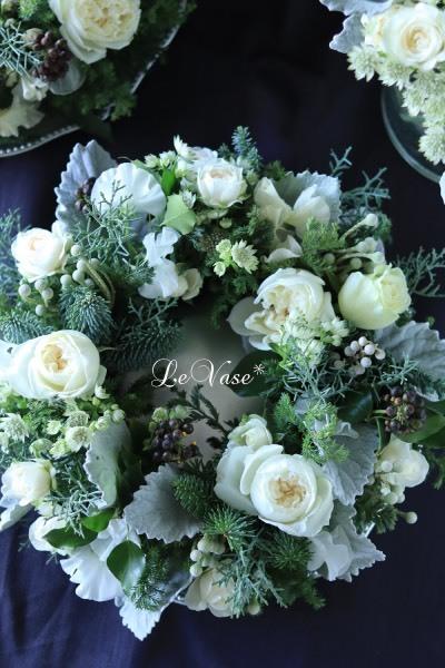 12月 Living flower 『Winter wreath』_e0158653_20343226.jpg