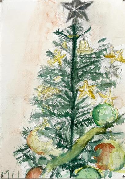 水彩画 大モチーフ「クリスマス」_b0318098_17414311.jpeg