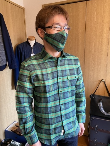 ~オーダーシャツ&共地マスク~ その弐 子煩悩なお客さま 編_c0177259_21295610.jpeg