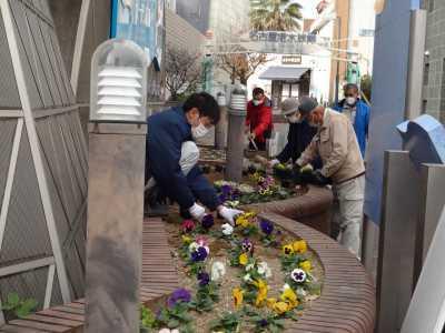 ガーデンふ頭総合案内所前花壇の植替えR2.12.14_d0338682_09305428.jpg
