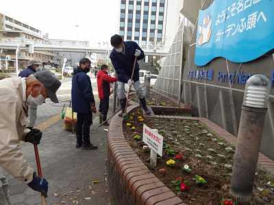 ガーデンふ頭総合案内所前花壇の植替えR2.12.14_d0338682_09311959.jpg