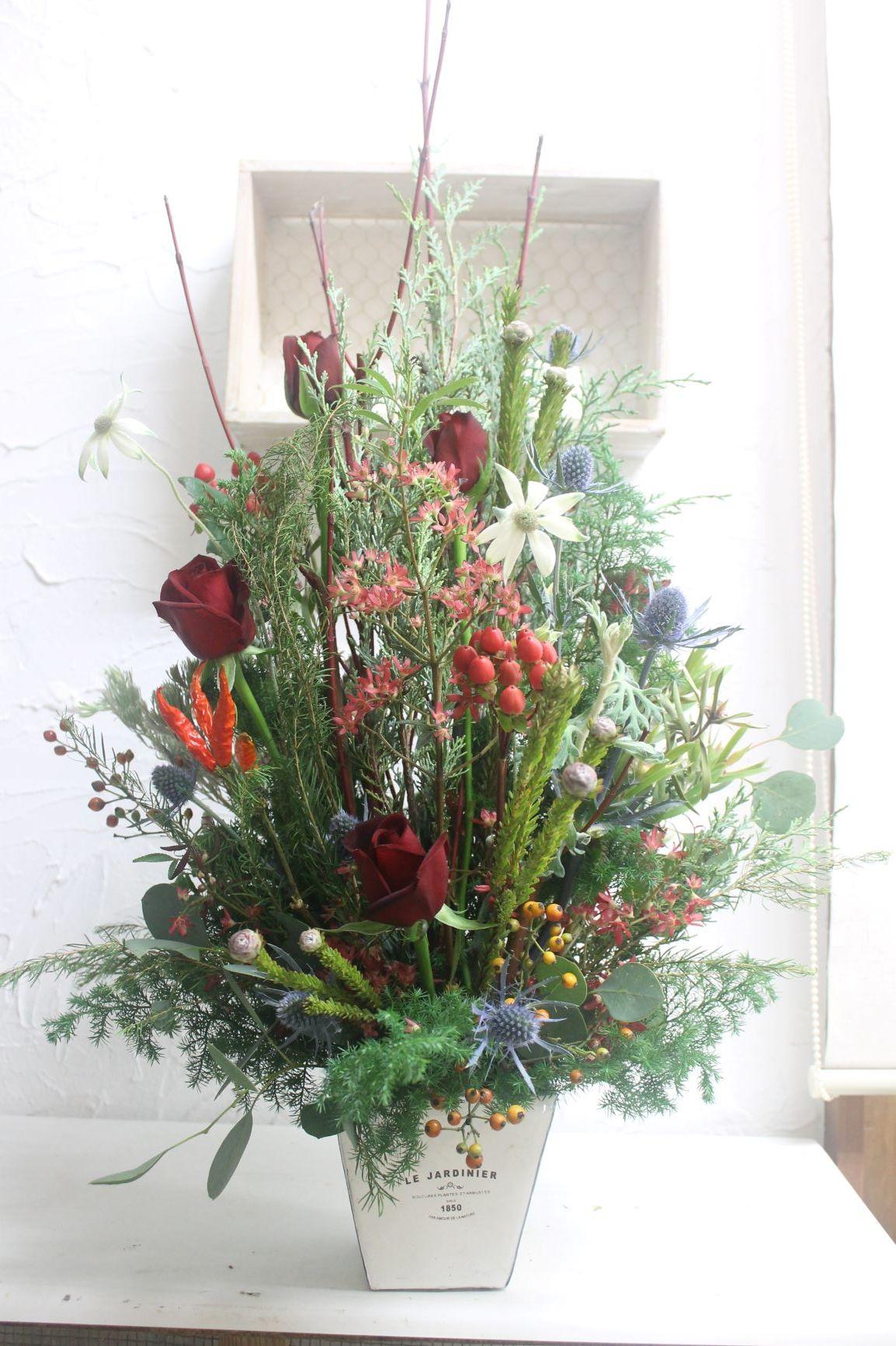 クリスマス アレンジ_d0227610_11332371.jpg