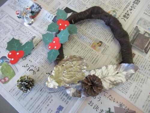 12月わんぱく教室『クリスマスリースを作ろう!』_b0186230_19264496.jpg
