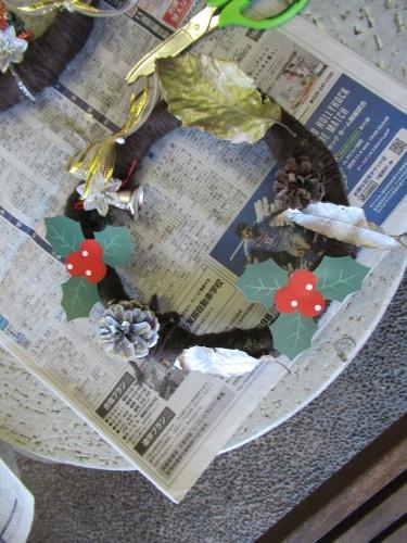 12月わんぱく教室『クリスマスリースを作ろう!』_b0186230_19271425.jpg