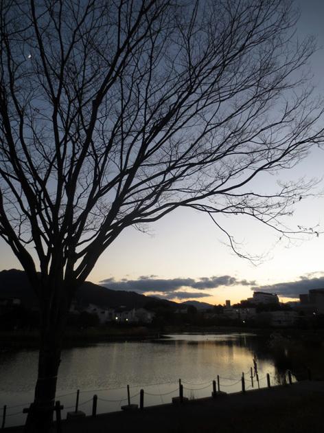 ■「孤独になるには」加藤典洋詩、そして雲と月の居る夕空──週替わりの夕暮れ[12/17・19・20]_d0190217_21462787.jpg