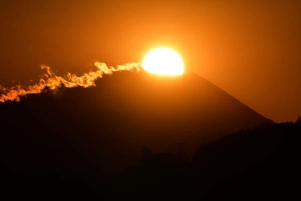 多摩川から見たダイヤモンド富士_f0173596_17565730.jpg