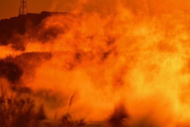 多摩川の川霧・燃える多摩川_f0173596_10495418.jpg