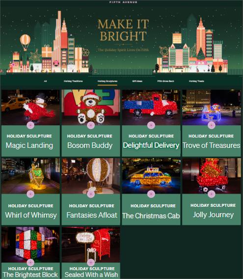 """光る巨大おもちゃでニューヨークの五番街を飾り付け """"Make it Bright"""" campaign 2020-21_b0007805_06223785.jpg"""