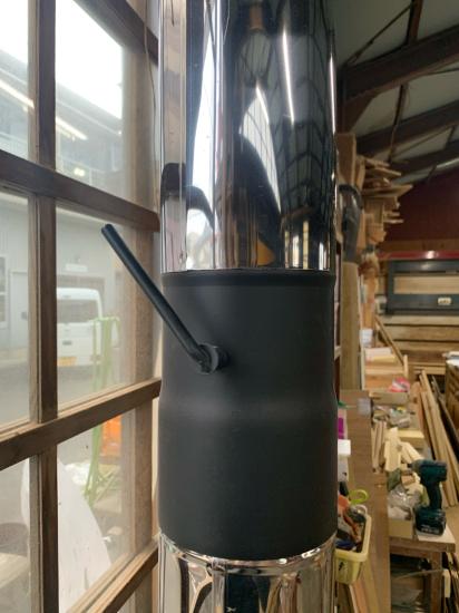 工場のストーブ、煙突新品。初火入れ。_f0053665_20381359.jpg