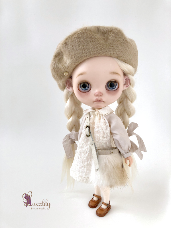 *lucalily * dolls clothes* Beige Duffle Coat Set *_d0217189_22164890.jpeg