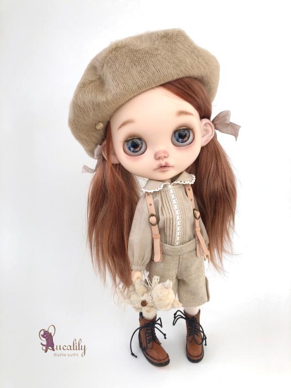*lucalily * dolls clothes* Beige Duffle Coat Set *_d0217189_22165655.jpeg