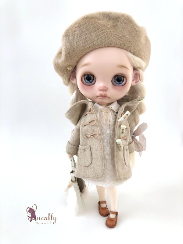 *lucalily * dolls clothes* Beige Duffle Coat Set *_d0217189_22170595.jpeg