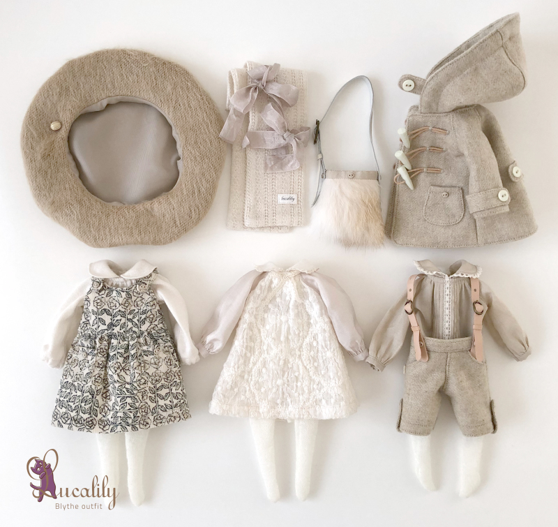 *lucalily * dolls clothes* Beige Duffle Coat Set *_d0217189_22175994.jpeg