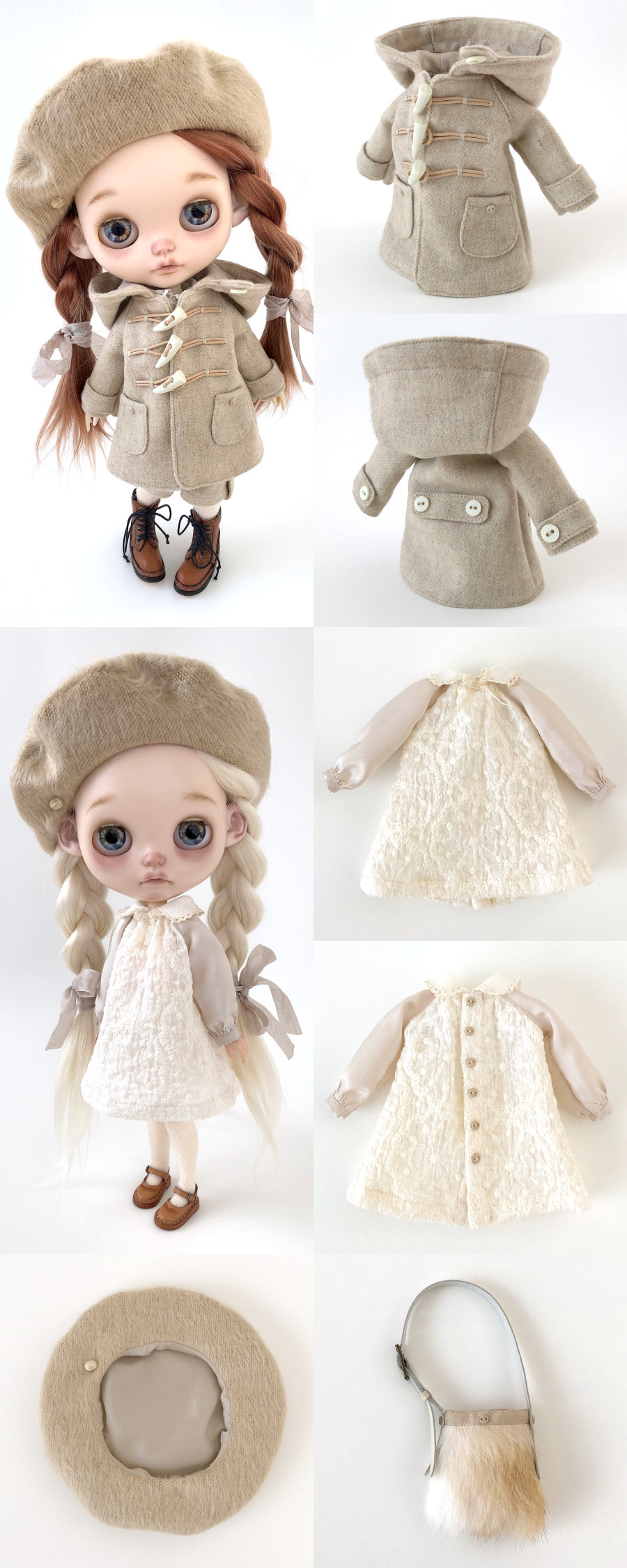 *lucalily * dolls clothes* Beige Duffle Coat Set *_d0217189_22180330.jpeg