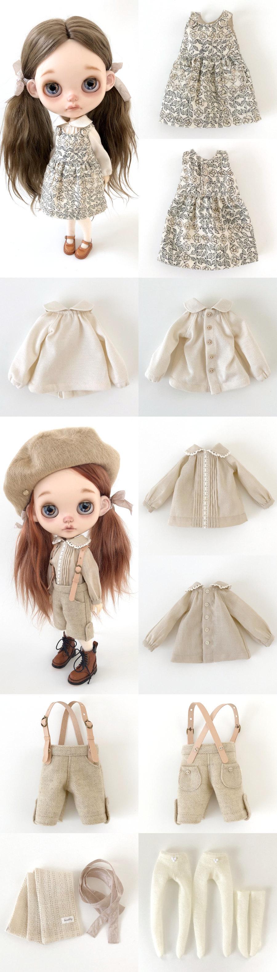 *lucalily * dolls clothes* Beige Duffle Coat Set *_d0217189_22180796.jpeg