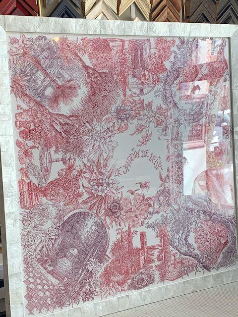 エルメスのスカーフ額装「レイラの庭」_a0077203_12002725.jpeg