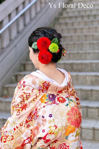 和装のヘッドドレス 色打掛に_b0113510_14433225.jpg