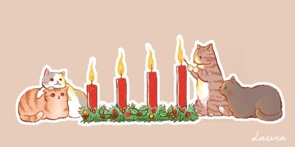 アドベントキャンドル最終週、猫サンタを探せ!_d0025294_20215908.jpg