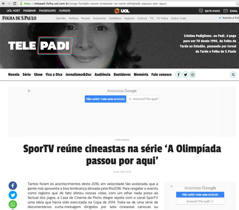 ◥◣有名ドキュメンタリーシリーズに出演◢◤ブラジル最大のスポーツ専門メディア @SporTV で放映から4周年_b0032617_17135088.jpg