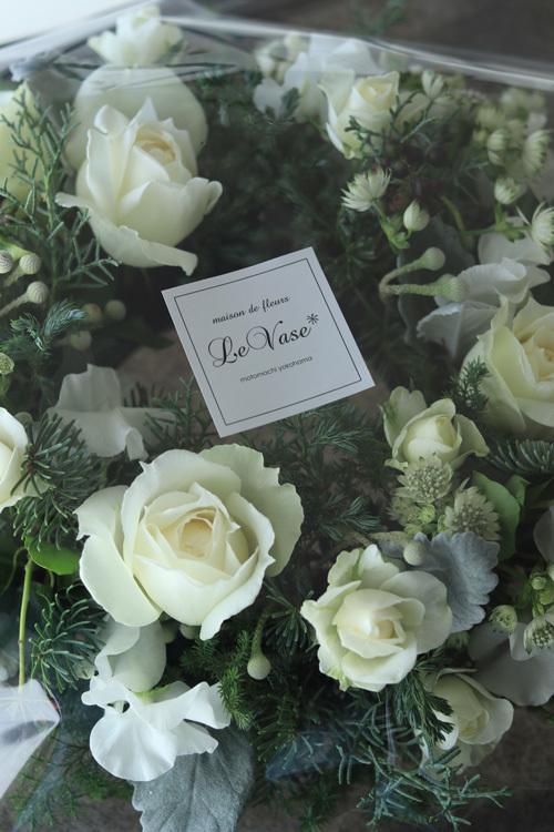 12月 Living flower 『Winter wreath』_e0158653_12033068.jpg