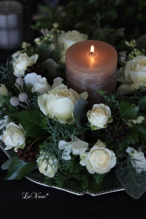 12月 Living flower 『Winter wreath』_e0158653_12040829.jpg