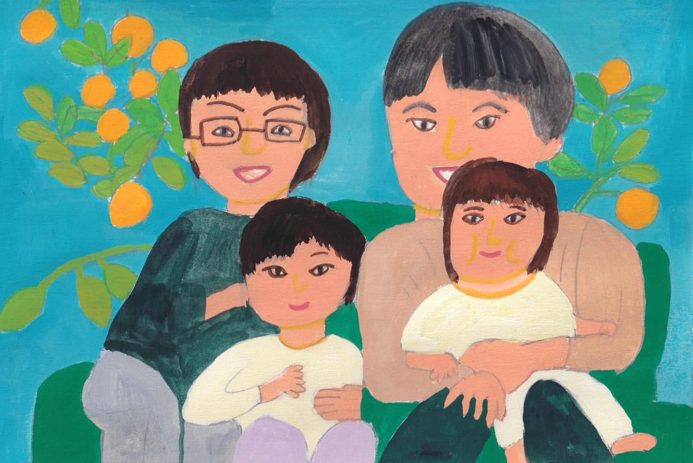 幼なじみの絵を今年も_d0259392_20001768.jpg
