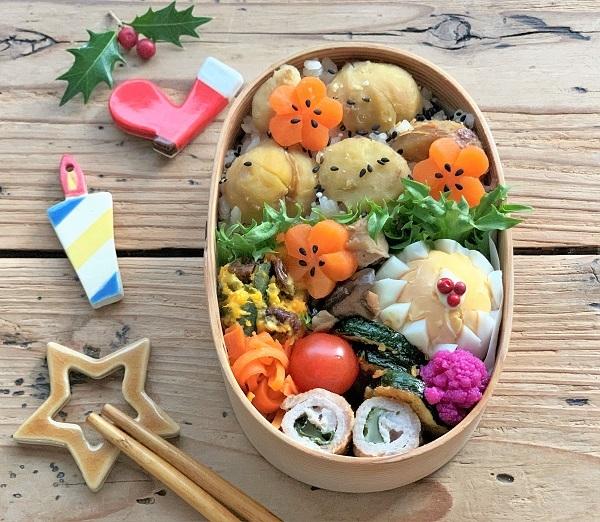 栗ごはんお弁当 と クリスマスのおうちごはん_d0249193_22423988.jpg