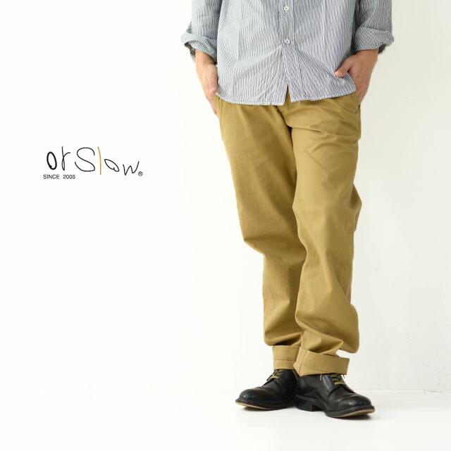 orslow [オアスロウ] M SLIM FIT ARMY TROUSERS [01-5361-40] メンズ・スリムフィット・パンツ・チノパンツ・MEN\'S _f0051306_16283456.jpg