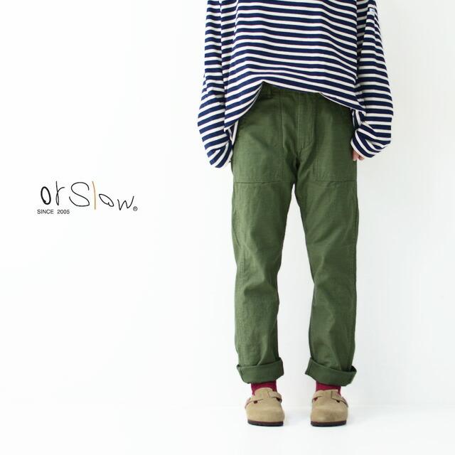 orslow[オアスロウ] W SLIM FIT FATIGUE PANTS [01-5032-16] スリムフィット ファティーグパンツ ミリタリーパンツ LADY\'S _f0051306_16442693.jpg